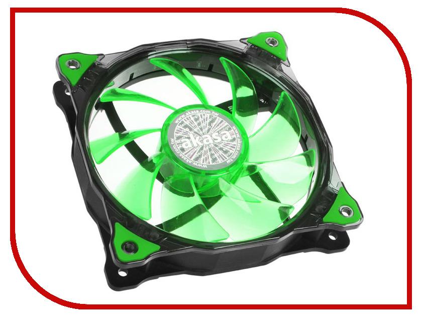 Вентилятор Akasa Vegas 120mm Green LED AK-FN091-GN вентилятор akasa vegas r7 rgb led 120mm ak fn098