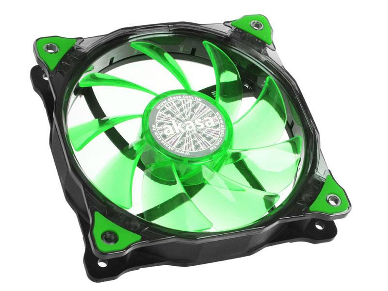 все цены на Вентилятор Akasa Vegas 120mm Green LED AK-FN091-GN онлайн