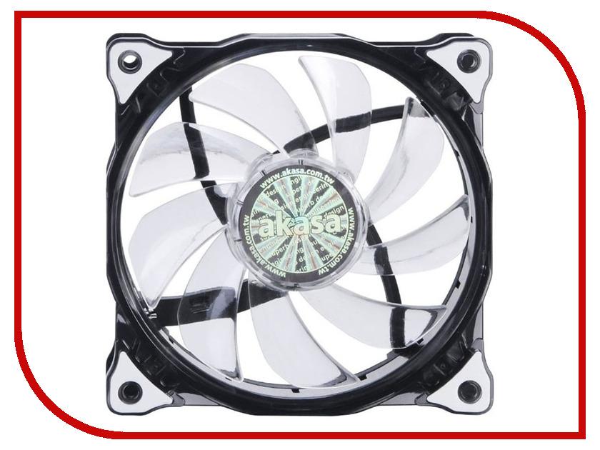 Вентилятор Akasa Vegas 120mm White LED AK-FN091-WH вентилятор akasa vegas r7 rgb led 120mm ak fn098