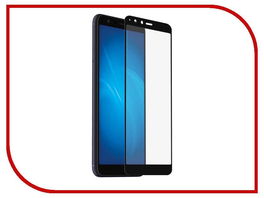 Аксессуар Защитное стекло для ASUS Zenfone Max Plus M1 ZB570TL Onext с рамкой Black 41722 сотовый телефон asus zenfone max m1 zb555kl 16gb