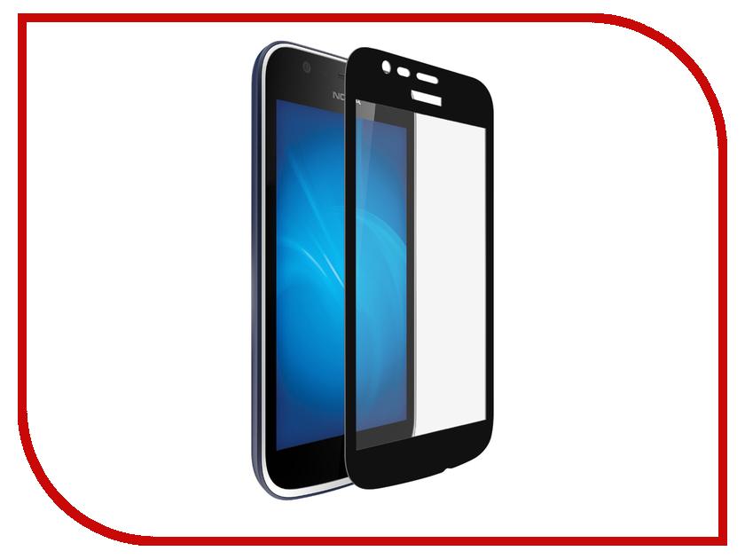 Аксессуар Защитное стекло для Nokia 1 2018 Onext с рамкой Black 41725 аксессуар защитное стекло onext eco для iphone 7 plus 43111