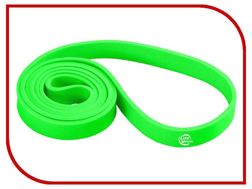 Эспандер Lite Weights 208x2.1x0.45cm Green 0825LW эспандер грудной lite weights цвет серый 5 резинок