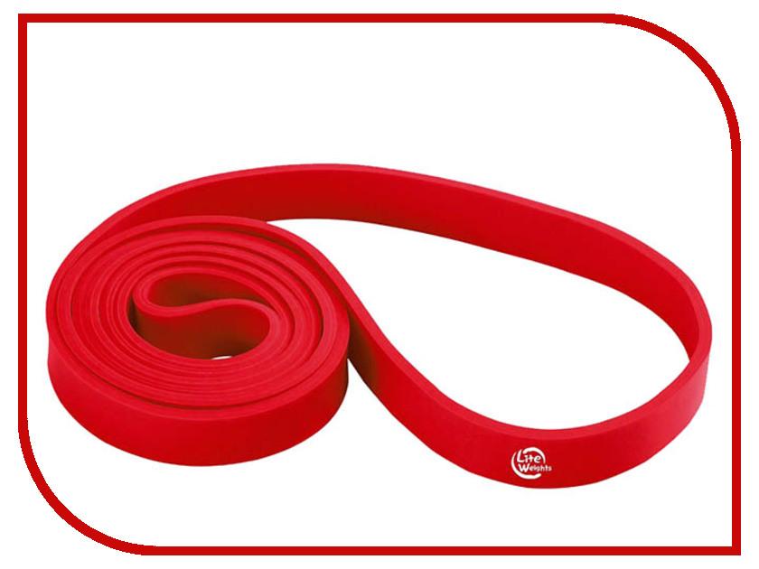 Эспандер Lite Weights 208x1.3x0.45cm Red 0815LW гантель неопреновая lite weights цвет серый 3 кг