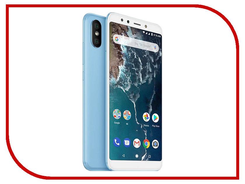 Сотовый телефон Xiaomi Mi A2 4/64GB Blue смартфон xiaomi mi a2 4 64gb черный