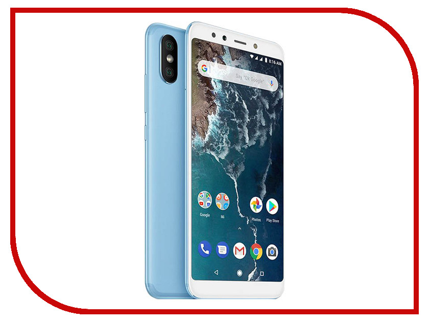 Сотовый телефон Xiaomi Mi A2 4/64GB Blue сотовый телефон xiaomi mi note 3 64gb black