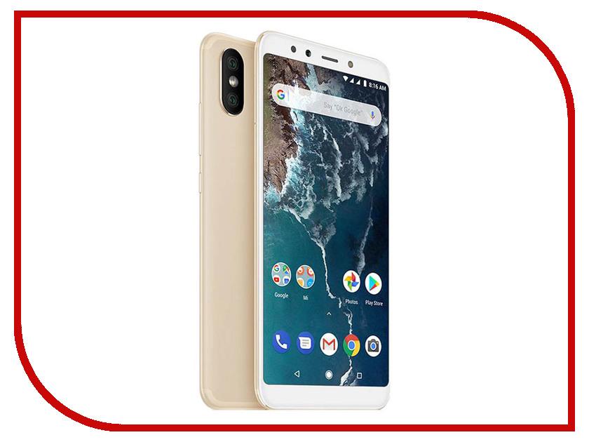 Сотовый телефон Xiaomi Mi A2 4/64GB Gold сотовый телефон xiaomi mi note 3 64gb black