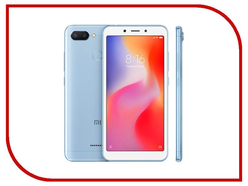 Сотовый телефон Xiaomi Redmi 6 4/64GB Blue телефон xiaomi mi5s plus 64gb золотой