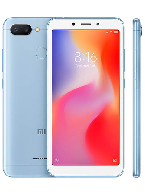 Сотовый телефон Xiaomi Redmi 6 4/64GB Blue сотовый телефон xiaomi mi a2 4 64gb blue