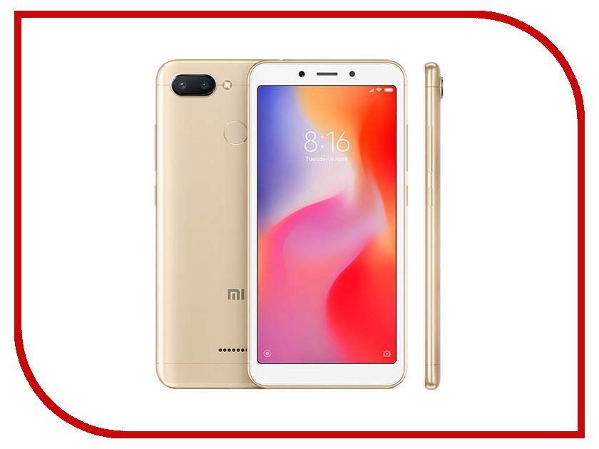 Сотовый телефон Xiaomi Redmi 6 4/64GB Gold сотовый телефон xiaomi redmi note 6 pro 4 64gb black