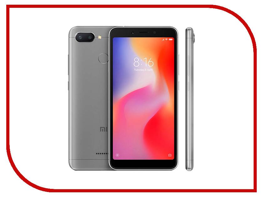 Сотовый телефон Xiaomi Redmi 6 3/32GB Grey сотовый телефон xiaomi redmi 4x 16gb pink