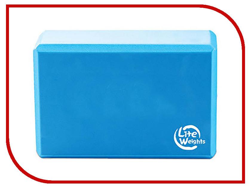 Блок для йоги Lite Weights Light Blue 5494LW гантель неопреновая lite weights цвет серый 3 кг