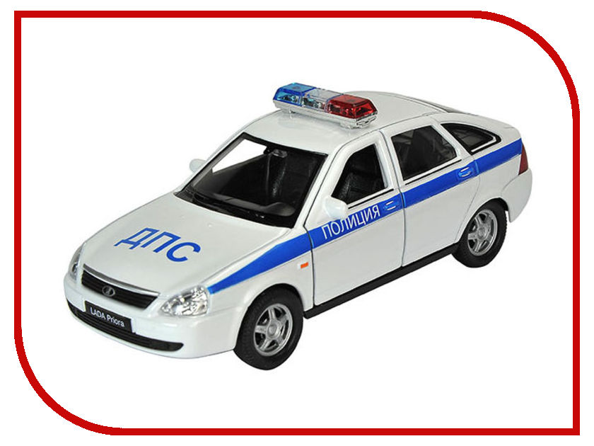Игрушка Welly LADA Priora Полиция 43645PB игрушка welly lada 110