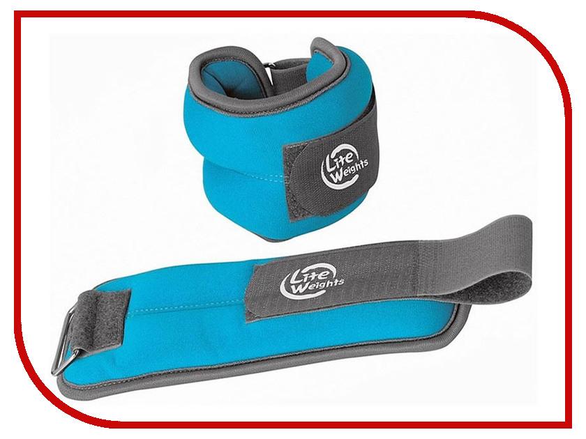 Утяжелитель Lite Weights 5869WC 2x1kg Light Blue lite weights пояс на талию неопреновый 4801ns 120 х 20 см