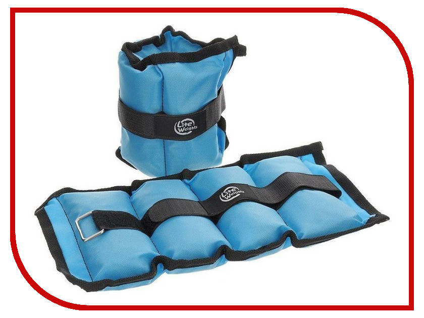 Утяжелитель Lite Weights 5862WC 2x1kg Light Blue утяжелитель mad wave weight trimmer 2x1kg black m1351 01 2 01w