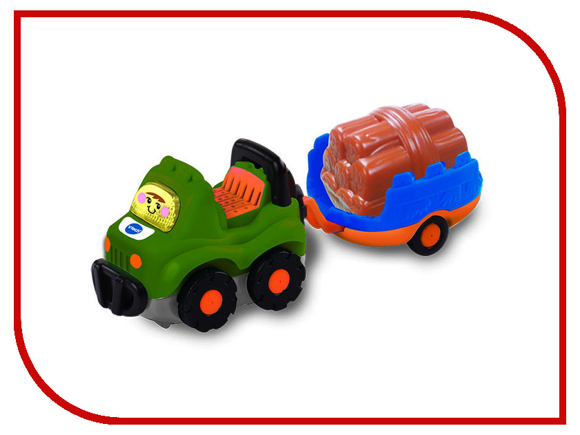 Игрушка Vtech Внедорожник с прицепом 80-164626 siku внедорожник jeep wrangler с прицепом для перевозки лошадей