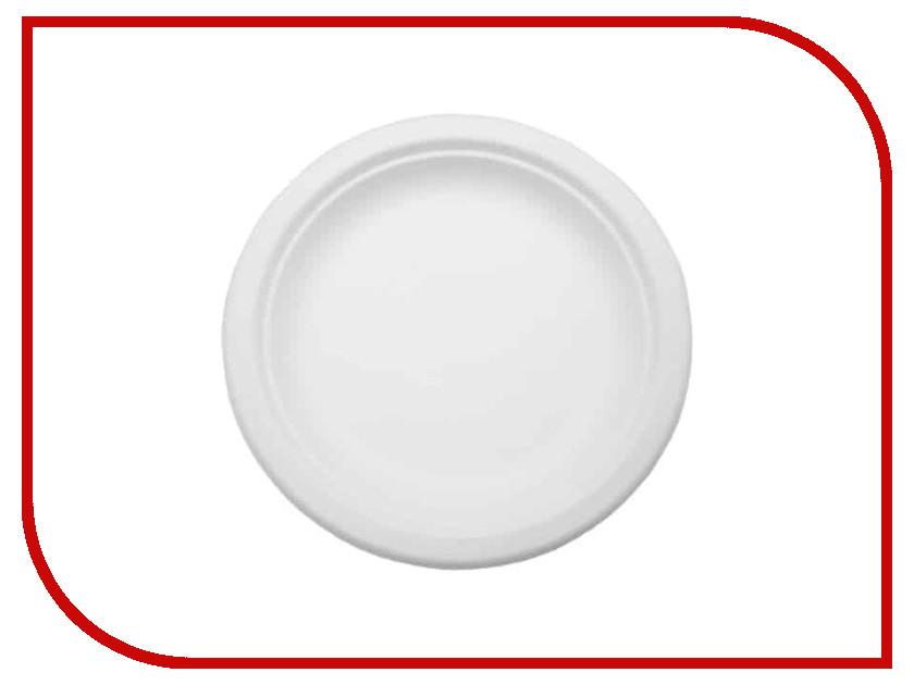 Одноразовые тарелки Ecovilka 125шт TT06 одноразовые тарелки ecovilka 50шт dtkr190