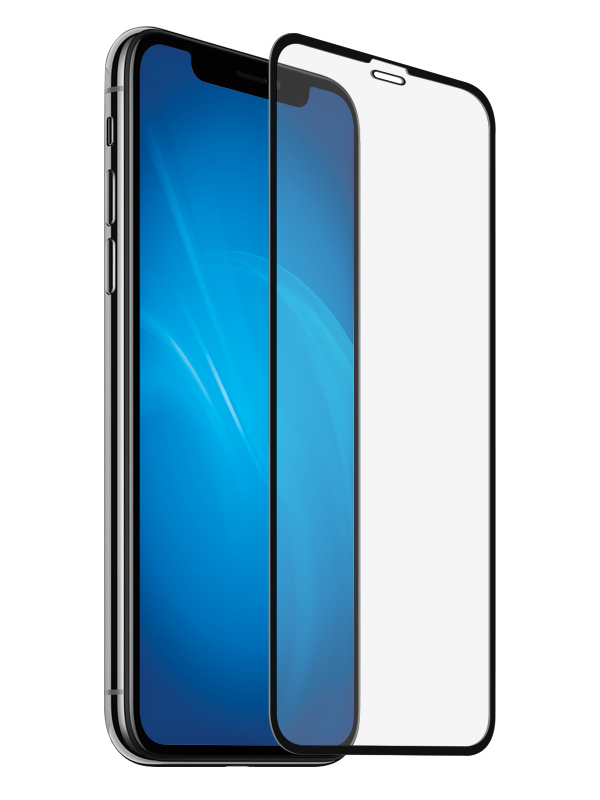 Аксессуар Закаленное стекло DF для APPLE iPhone XR Full Screen 3D iColor-17 Black