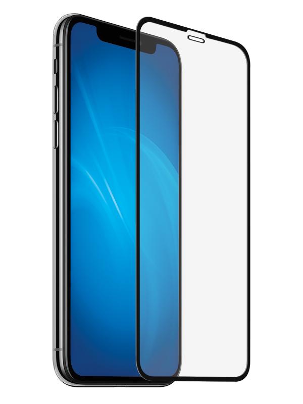 Аксессуар Закаленное стекло DF для APPLE iPhone XS Max Full Screen 3D iColor-18 Black