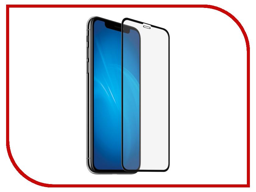 Аксессуар Закаленное стекло DF Full Screen для APPLE iPhone XR iColor-19 Black