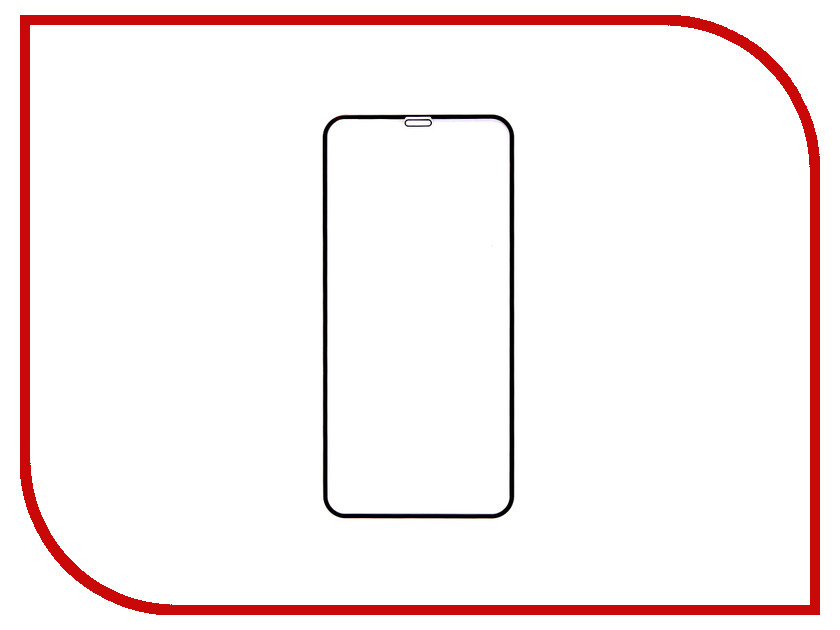 Аксессуар Закаленное стекло DF Full Screen для APPLE iPhone XS Max iColor-20 Black