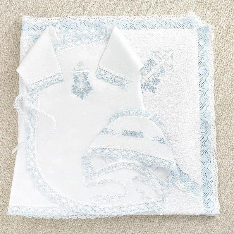Крестильный набор Krestilnoe Комплект Голубая лоза с полотенцем 62 0-3 мес. арт.НКМп-Гл-62