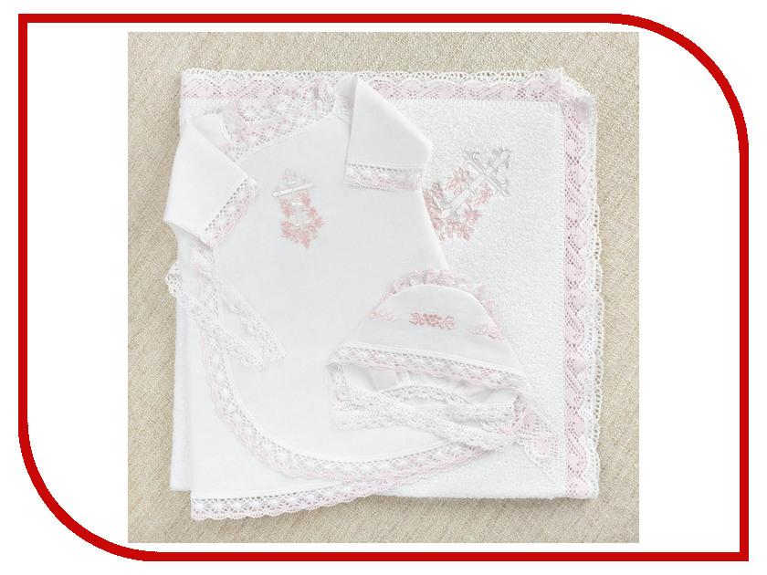 Krestilnoe Комплект Розовая лоза с полотенцем 62 0-3 мес. НКДп-Рл