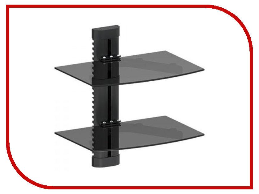 Полка iTECHmount DVD-2 (до 8кг) Black кронштейн itechmount mbs 12f до 8кг black