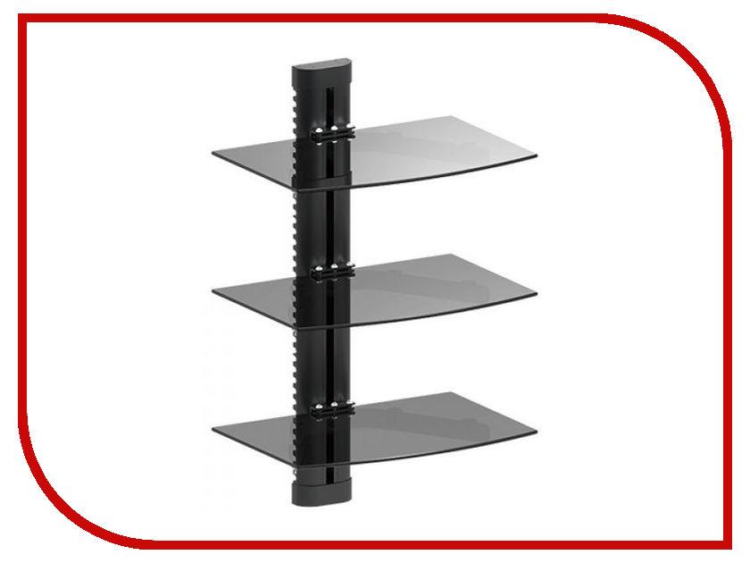 Полка iTECHmount DVD-3 (до 8кг) Black кронштейн itechmount mbs 12f до 8кг black