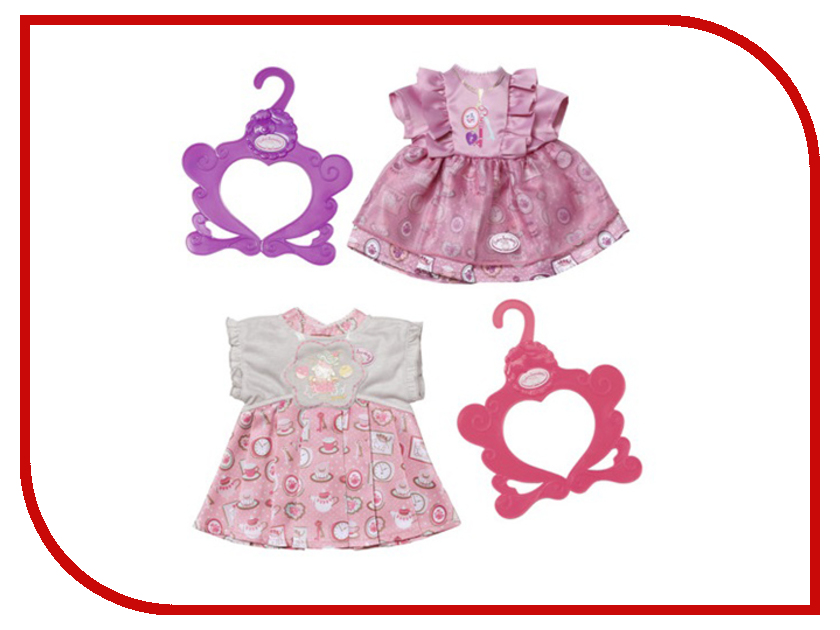 Одежда для куклы Zapf Creation Baby Annabell Платье 700-839 zapf creation памперсы для куклы 5 шт baby annabell