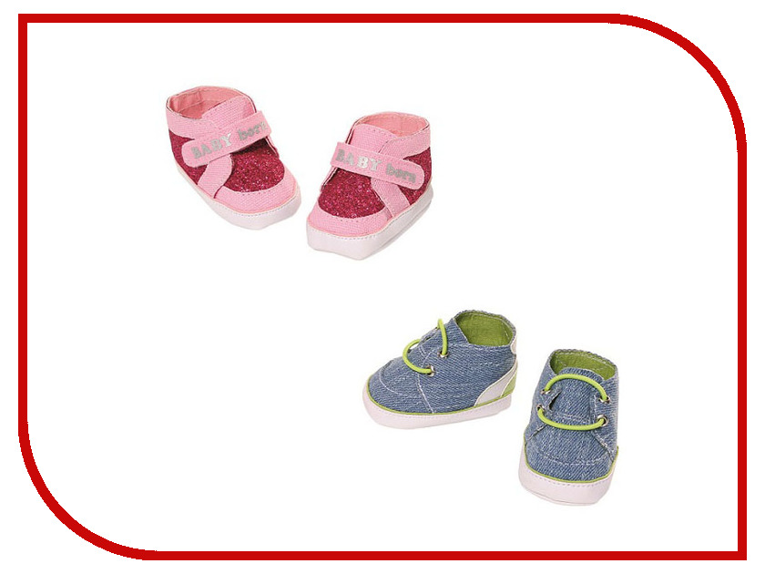 Кукла Zapf Creation Baby Born Сникеры 824-207 сникеры adidas сникеры hoops vulc mid w sunglo sunglo bluzes