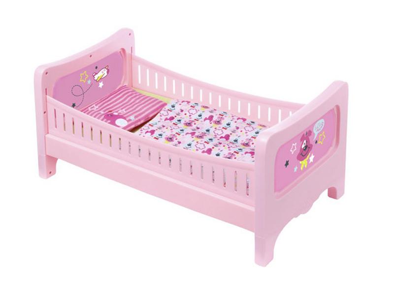 Кроватка для куклы Zapf Creation Baby Born 824-399 zapf creation baby born соска с цепочкой 824 474 голубая соска