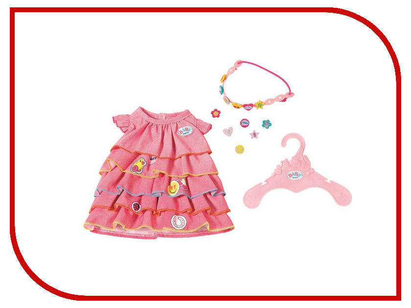 Кукла Zapf Creation Baby Born Платье и ободок-украшение 824-481 кукла zapf creation baby born сестричка русалочка 43 см 824 344