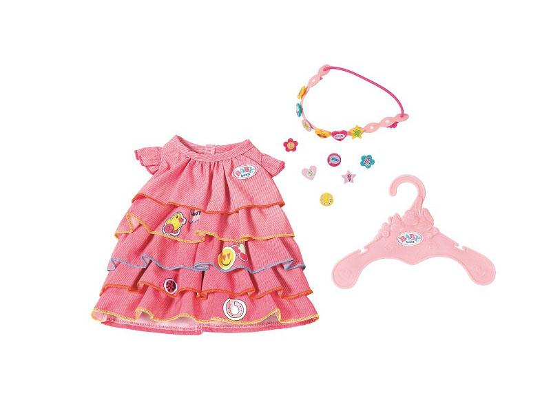 Одежда для куклы Zapf Creation Baby Born Платье и ободок-украшение 824-481