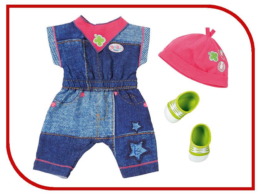 Кукла Zapf Creation Baby Born Одежда Джинсовая коллекция 824-498 кукла zapf creation baby born сестричка русалочка 43 см 824 344