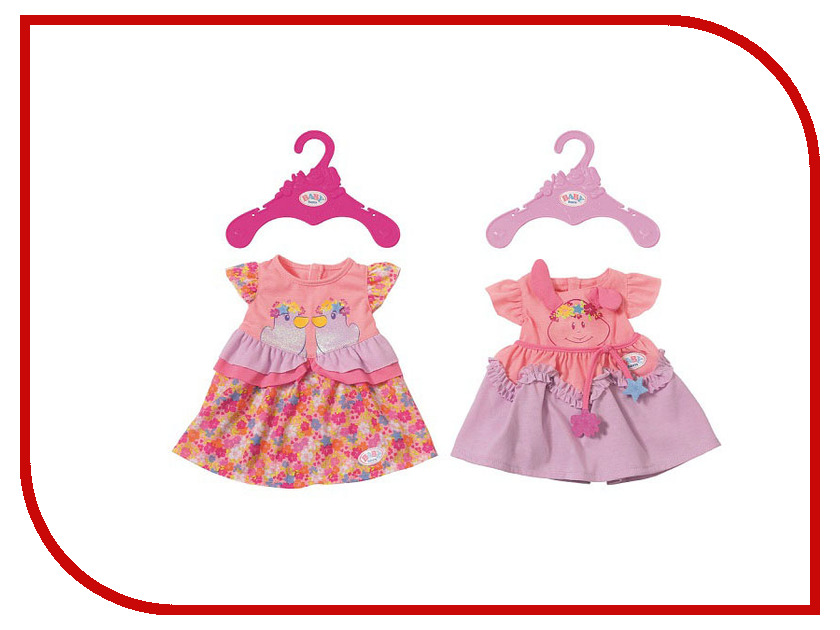 Кукла Zapf Creation Baby Born Платье 824-559 кукла zapf creation baby born набор для барбекю 824 733
