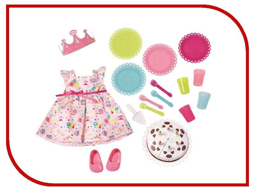 Кукла Zapf Creation Baby Born Набор для празднования Дня рождения 825-242 куклы и одежда для кукол zapf creation baby born детское питание 12 пакетиков