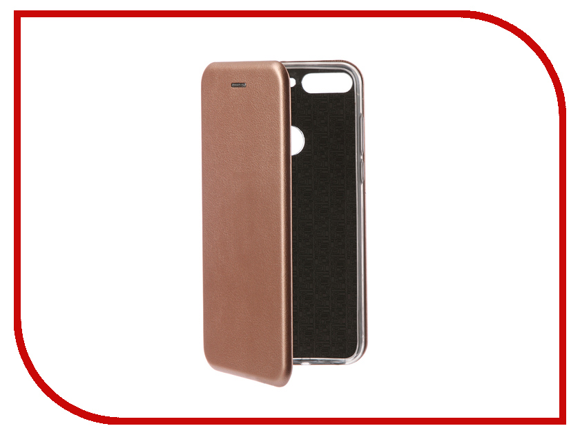 Аксессуар Чехол-книга для Huawei 7C Pro Innovation Book Silicone Rose Gold 12406 цена