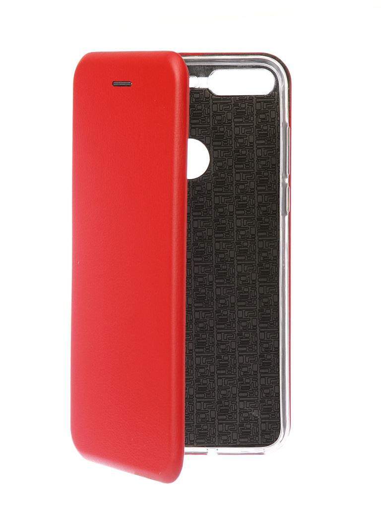 Чехол-книга Innovation для Huawei 7C Pro Book Silicone Red 12407