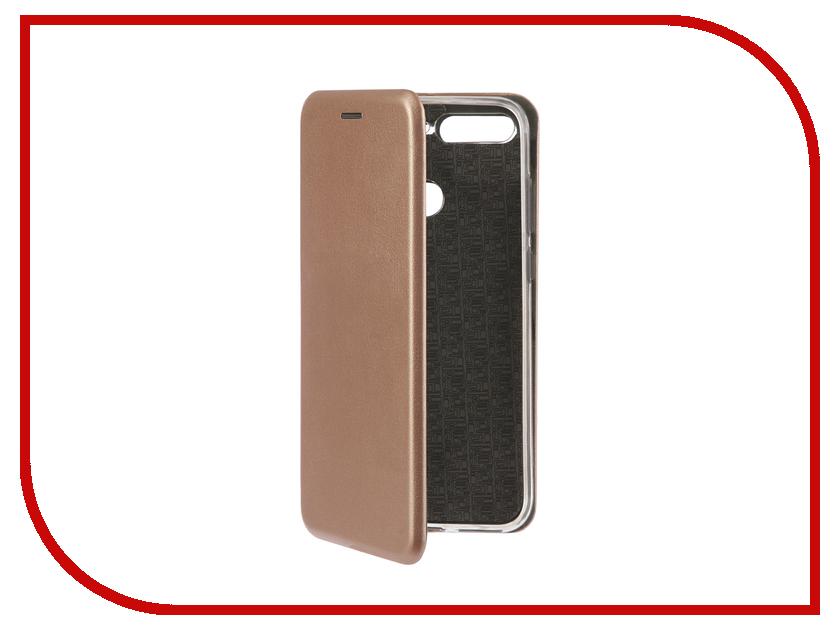Купить Аксессуар Чехол-книга для Huawei 7А Pro / Y6 Prime Innovation Book Silicone Rose Gold 12411