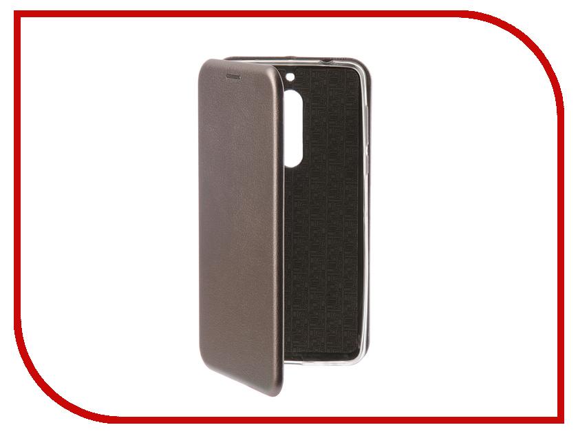 Аксессуар Чехол-книга для Nokia 5 Innovation Book Silicone Silver 12429 стул sheffilton sht s66 черный зол патина зол патина