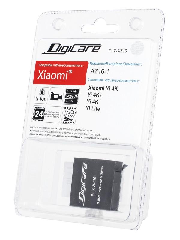 Аксессуар Аккумулятор DigiCare PLX-AZ16 для Xiaomi Yi 4K / 4K+ lite