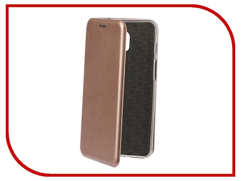 Аксессуар Чехол-книга для Meizu M6S Innovation Book Silicone Rose Gold 12441 аксессуар чехол накладка для meizu m5 skinbox silicone chrome border 4people gold t s mm5 008