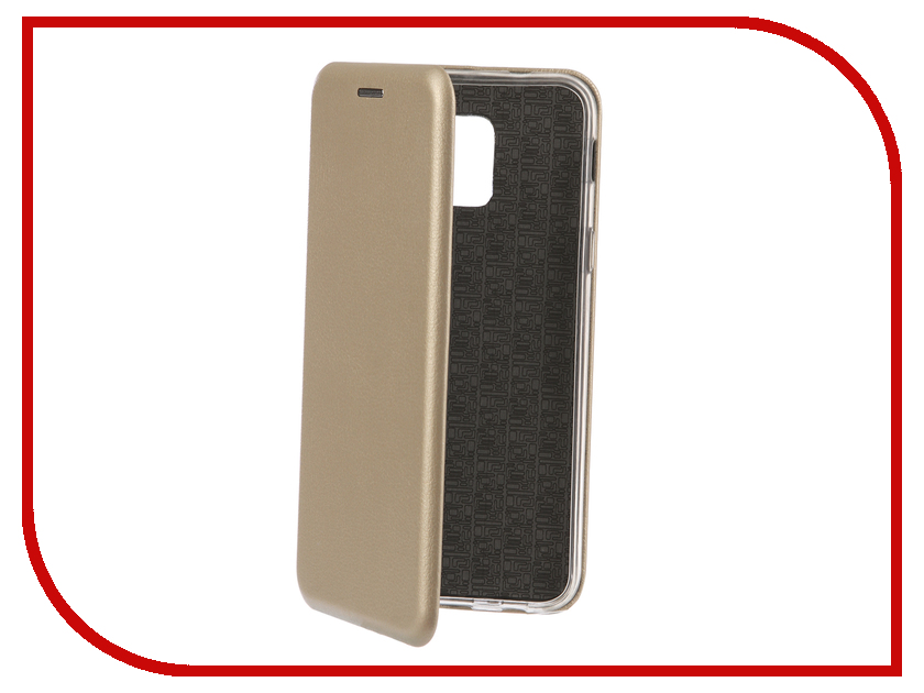 Аксессуар Чехол-книга для Samsung Galaxy A6 2018 Innovation Book Silicone Gold 12445 аксессуар чехол книга для samsung galaxy j5 2017 j530f innovation book silicone red 12153