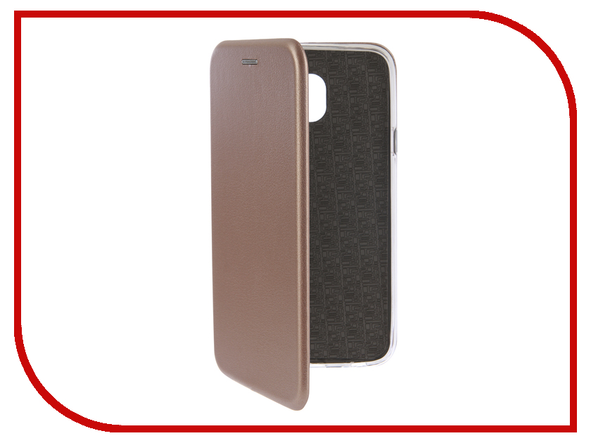 Аксессуар Чехол-книга для Samsung Galaxy J4 2018 Innovation Book Silicone Rose Gold 12456 аксессуар чехол для samsung galaxy a5 2017 innovation silicone yellow 10644