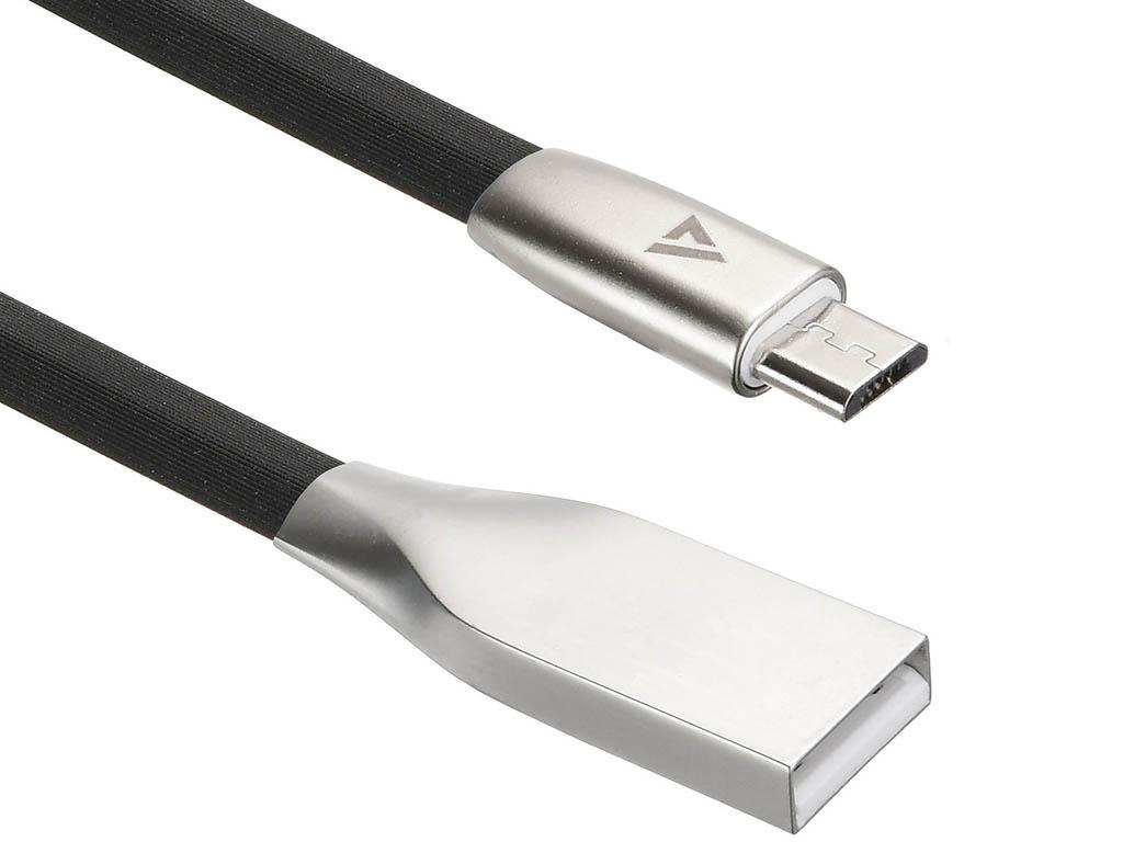 Аксессуар ACD Infinity MicroUSB - USB A TPE 1.2m Black ACD-U922-M1B
