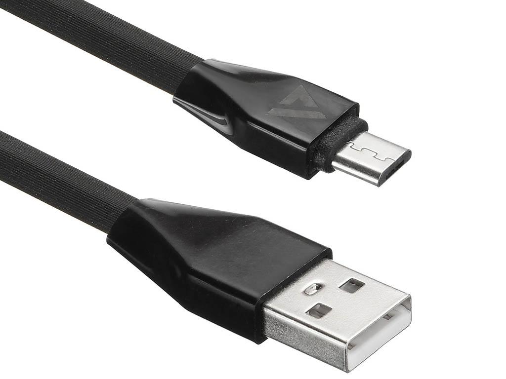 Аксессуар ACD Life MicroUSB - USB A TPE 1.0m Black ACD-U920-M1B
