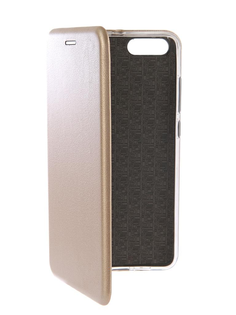 Аксессуар Чехол-книга Innovation для Xiaomi Mi Note 3 Book Silicone Gold 12460