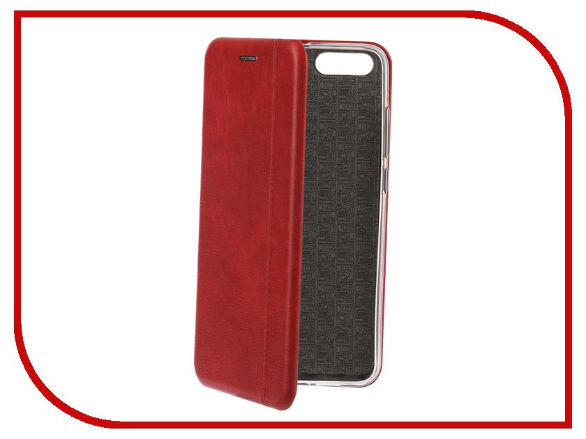 Аксессуар Чехол-книга для Xiaomi Mi Note 3 Innovation Book Silicone Red 12462
