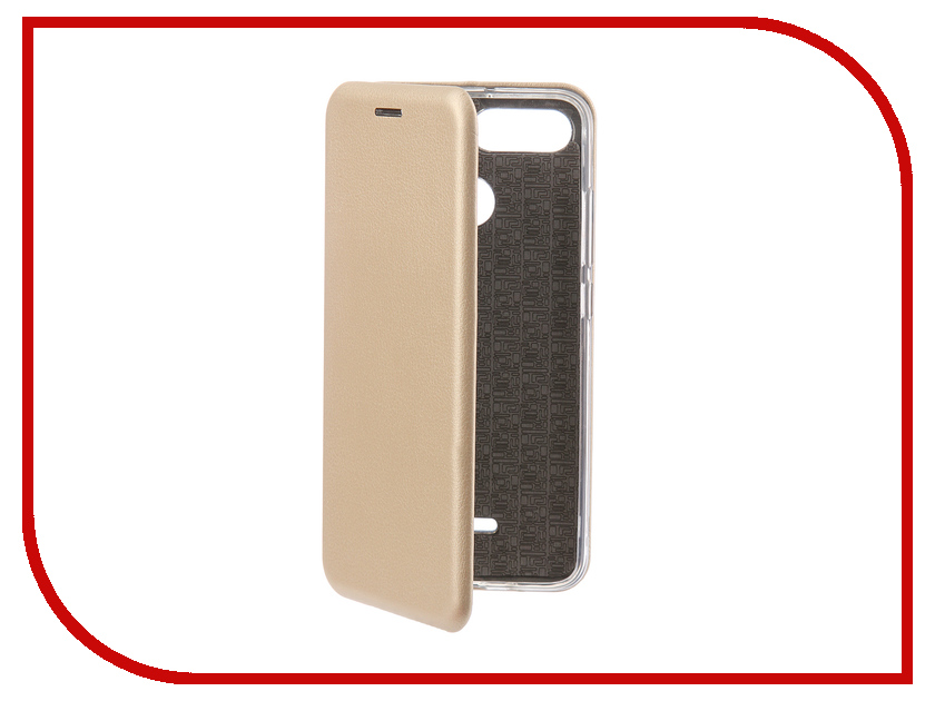Аксессуар Чехол-книга для Xiaomi Redmi 6 Innovation Book Silicone Gold 12465 аксессуар чехол книга для xiaomi redmi 5 plus redmi note 5 innovation book silicone rose gold 11447