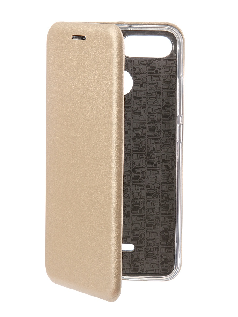 Аксессуар Чехол-книга Innovation для Xiaomi Redmi 6 Book Silicone Gold 12465